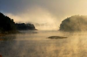 photo image of foggy lake